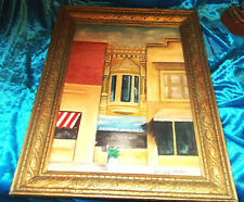 "Retro 1970'S Art Painting Depicting ""Benson'S Jewelry Store On Monroe St"" - Emh"