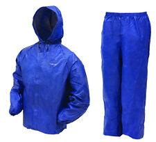 New Frogg Toggs Ultra Lite 2 Rain Gear Jacket Pants Blue L Large Ul12104-12Lg