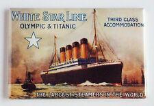 White Star Line FRIDGE MAGNET (2 x 3 inches) olympic titanic ships poster travel
