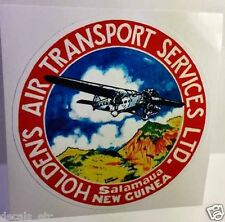 Holden's Air Transport Vintage Style Travel Decal / Vinyl Sticker, Luggage Label