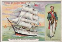 chromo aiguebelle-  3 mats modernes (france) / amiral dumont d'urville