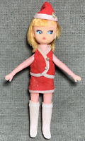 Rare Vintage Northwest Airlines Stewardess Doll Dolly Darlings Blonde Red Outfit
