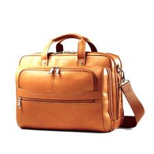 "Samsonite Vachetta Men/'s Business Case Blk 16/"" Leather 2Pockets For 15.6/""Laptop"