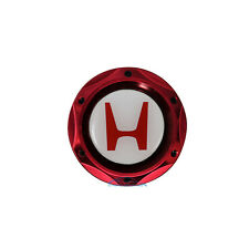 Red JDM Billet Engine Oil Filler Cap Tank Cover W/ Emblem For Honda Acura