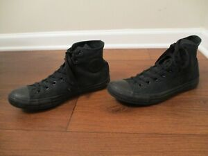 Used Sz 10 Fit Like 10.5-11 Converse Chuck Taylor All Star Hi Shoes Black
