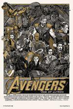 Tyler Stout Print Marvel Avengers Age of Ultron Variant Gold Poster S/N Mondo