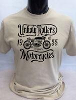 Unholy Rollers T-Shirt mens S-2XL Biker tee skull motorcycle rock bike classics