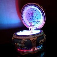 Musical Globe Carrousel Birthday Gift Music Box Color Light Up Rotating Dome