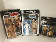 Princess Leia 40th Anniversary STAR WARS black series r2-d2 C-3po Chewbacca lot