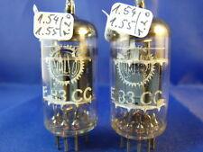 Matched Pair E83CC/12AX7WA Siemens # near NOS # TriMica # same codes (9840)