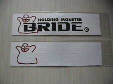 2 BRIDE racing seats di-cut vinyl sticker decals.JDM aftermarket racing sponsor