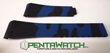 Citurino rubber Blu Black strap Rolex GMT OMEGA SEAMASTER Daytona Mimetico