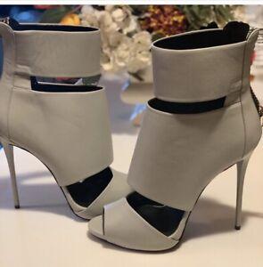 Giuseppi Zanotti Light Grey Sandal Heels Booties 40