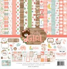 """New Echo Park  12"""" x 12"""" Paper Collection Kit Baby Girl"""