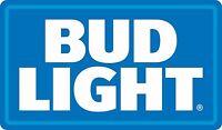 Bud Light Vinyl Sticker Decal Logo DieCut 2 Stickers