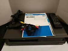 New listing Toshiba Vcr Vhs Model M-2283 , With Remote and Av cables Tested Working