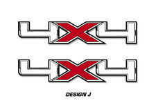 """4x4 Off Road Truck Bed Decal Set For Ford F150 Raptor Vinyl Stickers 16""""x3"""" RED"""