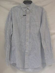 Club Room Size S Small White Blue Striped Long Sleeve New Mens Dress Shirt