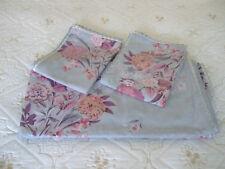 NEXT Double Size Cotton Duvet Set.Blue/Grey/Floral.Crochet Edges.Exc.Cond.