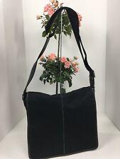 Coach Messenger Bag Transatlantic MAP Black Nylon Leather 5300
