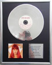 """Cher - Love Hurts CD Cover + 12"""" Vinyl goldene / platin Schallplatte"""