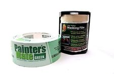 Duck Pre Taped Masking Film 22in x 100ft & Painters Mate Green Tape 1.88in x 60y