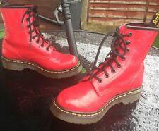 Dr Martens 1460 red floral design patent leather boots UK 3 EU 36