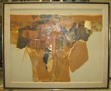 James Grabowski '80s Abstract Mixed Media Collage Listed Connecticut Artist