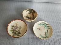 Japanese old KUTANI? Set of 3 Mini Bowls  & Mini Plate