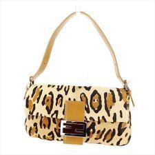 Fendi Shoulder bag Beige Harako Leather Woman Authentic Used T8955