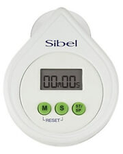 Timer Electronic Digital Alarm Stop Watch Sticks On Glass Home Salon White Sibel