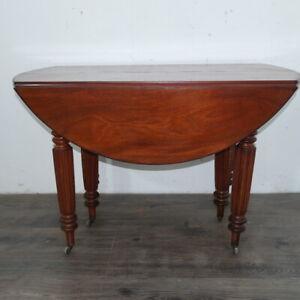 elegante tavolo allungabile Carlo X 1840 in mogano massello francese