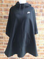 NIKE Women's Sportswear Poncho Black 836098 010 sz S