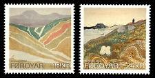 Faroe Islands 2010 Art set of 2, Landscapes by Eli Smith, Unmounted mint