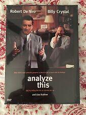 Analyze This DVD Robert DeNiro Billy Crystal New Sealed Comedy