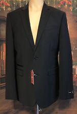 New EXPRESS Slim Black Wool Blend Stretch Suit Jacket Blazer 44L $248 44 Long