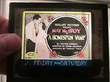 The Homespun Vamp - Original 1922  Movie Glass Slide - May McAvoy
