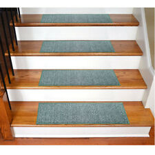 Non Slip Stair Rugs Carpet Stair Treads Pack Of 7 (Turquoise)