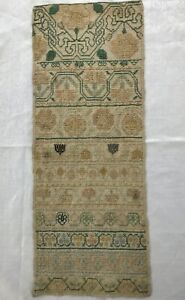 Antique Embroidered Tapestry Runner