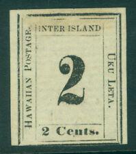 HAWAII 1864  Numerals  2c black   Scott # 24  6-A  Type VI  pos.6   mint MH