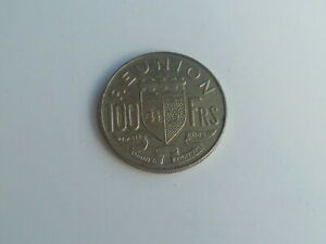 Vintage ! One pc 1964-100 francs France / Francs Reunion Island coin (#143-A)
