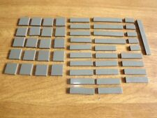 Lot of 50 Old Dark Gray Tile Smooth City System Town Star Wars