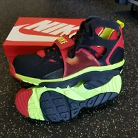New Nike Air Trainer Huarache Shoes~Black/Red/Volt~679083-020~Men's Size 11.5