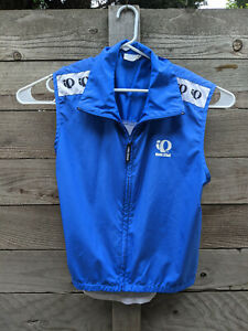 Pearl Izumi Cycling Vest Gilet Full Zip Size Large Blue and White Vented Back