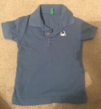 UNITED COLORS OF BENETTON BABY BOY POLO SHIRT TOP 6-9 MONTHS 6-9m Tshirt Blue