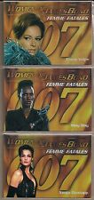WOMEN OF JAMES BOND 007 FEMME FATALES CHASE CARD LOT #F2 F6 F7 JANSSEN JONES+ NM