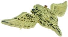Police Motor wings uniform pin in Gold