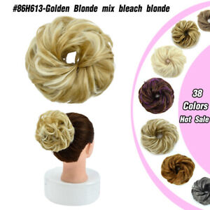 Real Thick Messy Bun Hair Piece Scrunchie as Human 100% Natural Hair Extensions