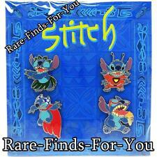 "Disney Parks ""Stitch"" In Costumes 4-Pin Set Booster Pack Hula 626 (NEW/SEALED)"
