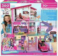 Barbie Dream House Doll Estate Playset with 70+ Toys Accessories FHY73 NEW